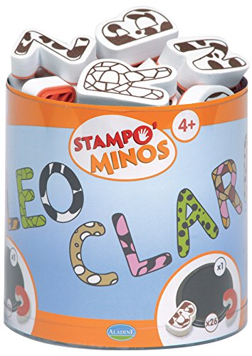 (Aladine Stampominos, Letters Foam Stamps, Set of 26 Plus 1 Extra Large Ink Pad)