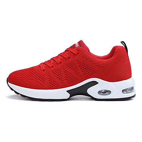 Sneakers Tennis Running Walking Shoes Lightweight EMMARR Fashion Breathable Women's Red Athletic wq0cIH78