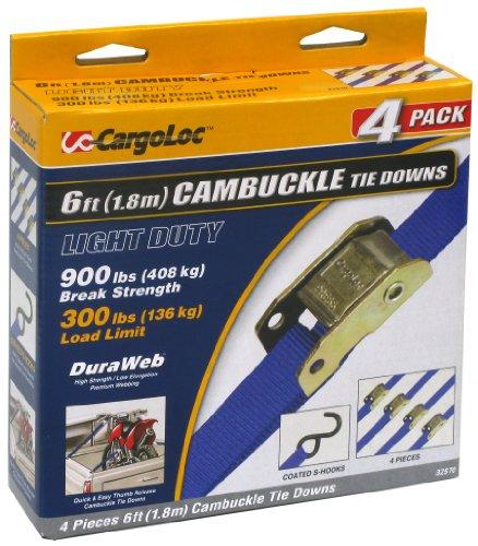CargoLoc 32570 1-Inch x 6-Feet x 900-Pound Cambuckle Tie Dow