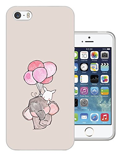 003005 - Elephant Rabbit Floating Balloons Design iphone 4 4S Fashion Trend CASE Gel Rubber Silicone All Edges Protection Case Cover