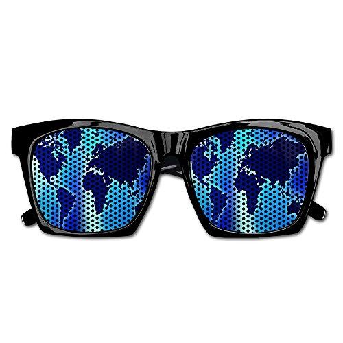 Blue World Map Party Sunglasses Mesh Lens Glasses Costume Sunglasses Eyewear For Groom Party Wedding - Walmart Sunglasses Wayfarer