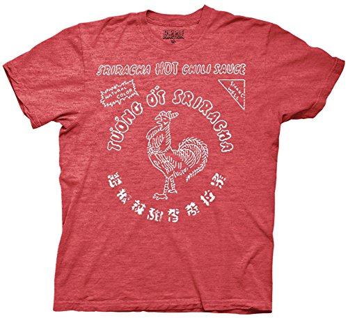 Sriracha Hot Chili Sauce Bottle Label Men's T-shirt