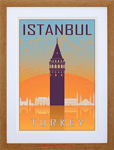 - The Art Stop Travel Istanbul Turkey GALATA Tower Byzantine Vector Framed Print F12X7069