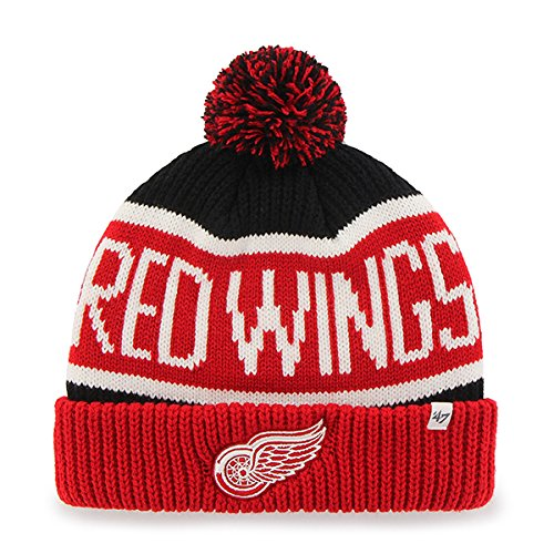 Detroit Red Wings Cuffed Knit Hat, Red Wings Beanie, Red ...