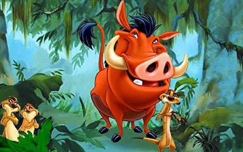 Timon and Pumbaa Season 1 (38inch x 24inch/96cm x 60cm) Waterproof Poster No Fading (Timon And Pumbaa Tv Series)