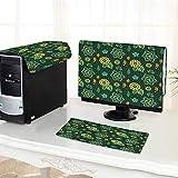 Best Modern Fantasy Hand Wraps - Auraisehome Desktop Computer Cover 3 Pieces Flower Decorations Review
