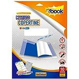 Copri Libro Trasparente Colorato Kit 10Pz