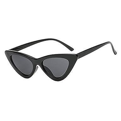 Lunettes de Soleil Yeux de Chat Vintage Mod Style Retro Des Lunettes de Soleil,Eye Cat Sunglasses Lentille Plastique Plage Voyage (C18)