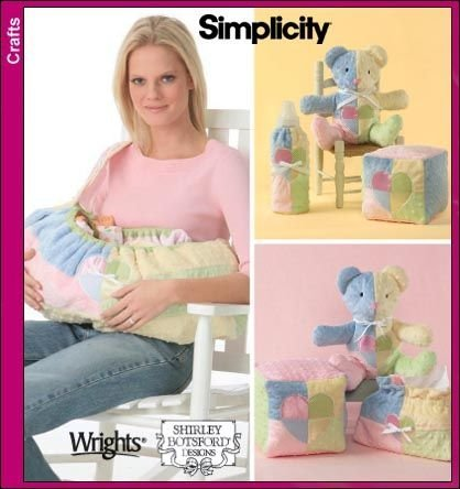 (Simplicity 4075 Sewing Pattern Shirley Botsford Baby Accessories Carrier Blocks Bottle Warmer)