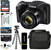 Canon PowerShot SX420 IS Digital Camera with 20MP, 42x Optical Zoom, 720p HD Video and Built-In Wi-Fi + Accessory Bundle