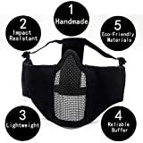 Tactical Airsoft Half Face Mask with ear