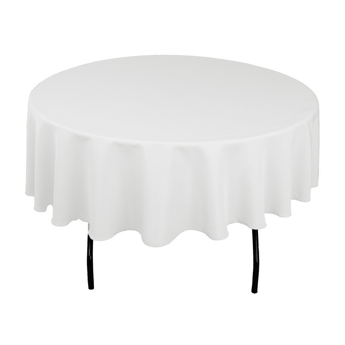 Craft and Party - 10 pcs Round Tablecloth for Home, Party, Wedding or Restaurant Use. (90'' Round White)
