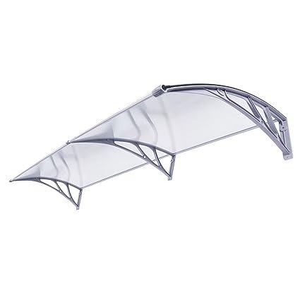 Amazon.com: 40u0027u0027 X 80u0027u0027 Window Awning Door Canopy Polycarbonate Cover  Outdoor Front Door Patio Sun Shetter: Home Improvement