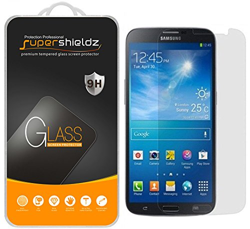 "Price comparison product image [2-Pack] Supershieldz for Samsung Galaxy Mega 6.3"" Tempered Glass Screen Protector, Anti-Scratch, Anti-Fingerprint, Bubble Free, Lifetime Replacement Warranty"