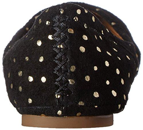 Gold Black Leder Frauen Brand Lucky Emmie Flach Ballerinas pYPv0Yq8w