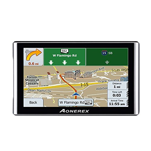 GPS Navigator,Car gps navigation 7-inch HD Capacitive Touch Screen, Car GPS Navigator built-in 8GB Satellite Navigation System, Voice Notification, Lifetime Maps and Traffic, Driver (Capacitive Touch Screen Gps)
