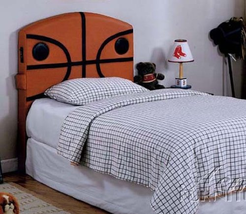 Allstar Ii Basketball Twin Bed Size Headboard with Speaker in Multiple Finishes by Acme by Acme Furniture
