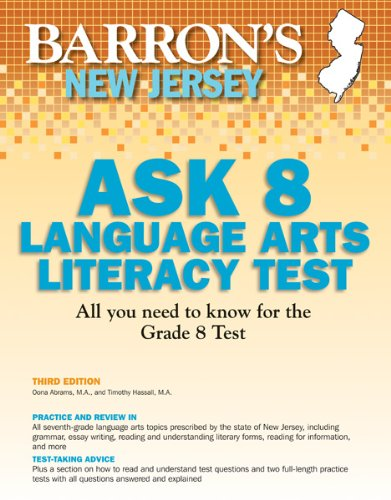 Barrons New Jersey ASK 8 Language Arts Literacy Test, 3rd Edition Timothy Hassall