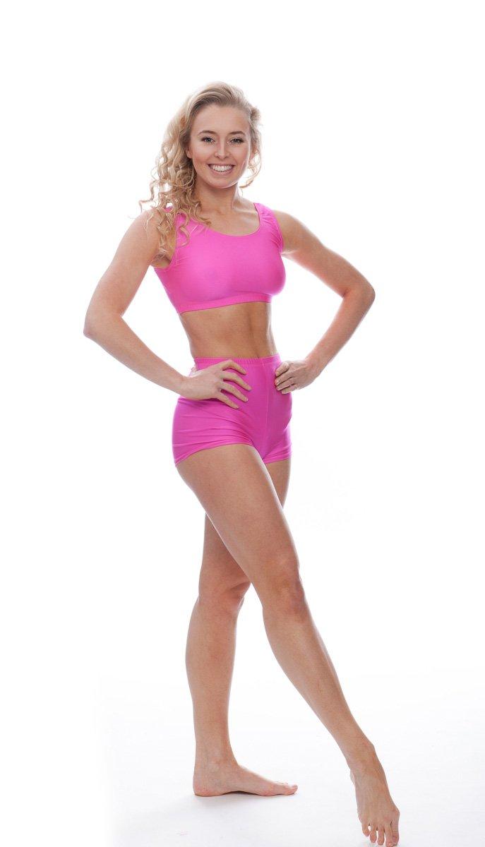 047d05c10 Ladies Girls All Colours Lycra Dance Gym Sports Racer Back Crop Top ...
