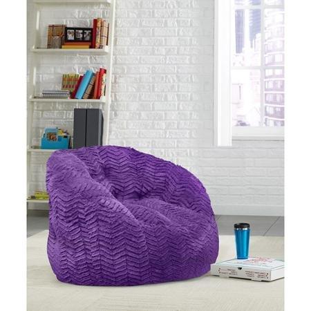 Cocoon Chevron Faux Fur Beanbag Chair