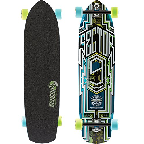ht Complete Skateboard, Blue (Sector 9 Carbon)