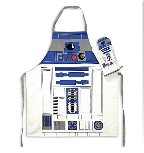 Star Wars Cooking & Grill apron with R2-D2 oven mitt