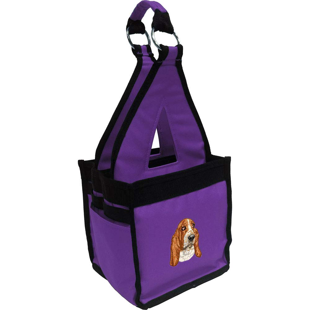 Purple Miniature Pinscher Cherrybrook Breed Embroidered Blue Fig Ringside Tack Bag