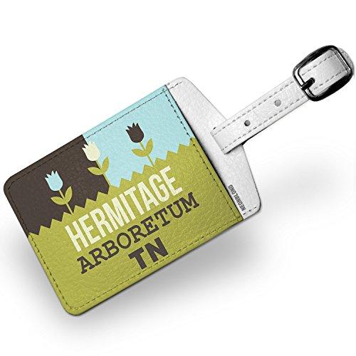 Hermitage Leather - Luggage Tag US Gardens Hermitage Arboretum - TN - NEONBLOND