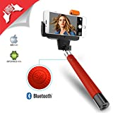 XTRA Selfie Stick, Extendable Bluetooth Monopod with Built-in Shutter & Adjustable Phone Holder for iPhone 7/7+ /Se/6s/6/6 Plus, Samsung Galaxy S7/S6/Edge, Note 5/4, LG G5, Moto X/G & Android Phones