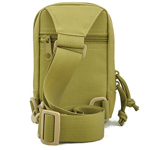 TONMAX 1000D nylon tactical sling backpack Shoulder bag Military waterproof Crossbody Bag Male chest Pack Leisure police Wallet Khaki color