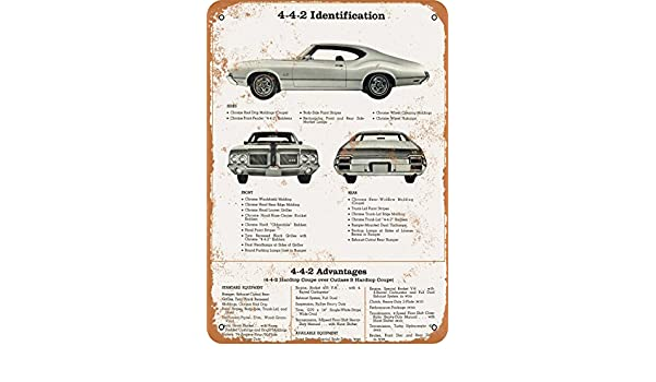 Amazon.com: Wall-Color 7 x 10 Metal Sign - 1971 Oldsmobile 4-4-2 Identification - Vintage Look: Home & Kitchen