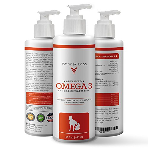 120 Caps Fat (Pure Wild Caught Omega 3 Fish Oil for Dogs and Cats - Unique All Natural Formula Supports Supports Healthy Skin, Coat, Joints, Heart and Immune System - Higher Levels of EPA & DHA than Salmon Oil)
