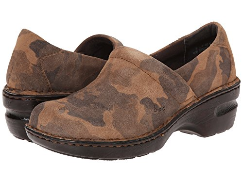 Image of BOC By Born Womens Peggy Tan Camo Suede Slip On Clog Mule (6.5 M US)