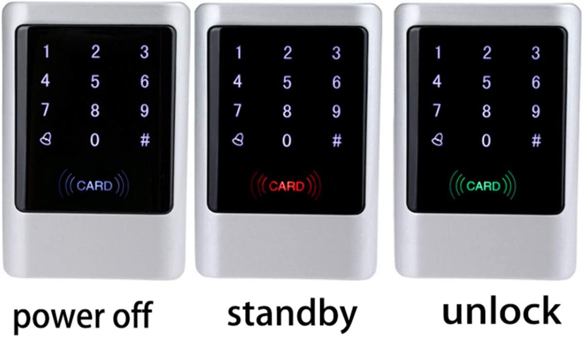 LBS Waterproof Metal RFID 125KHz or 13.56MHz Standalone Access Control System Digital Keypad with Touch Screen Panel IC 13.56Mhz