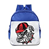 HYRONE University Of Georgia Bulldog Club Boys And Girls School Bag Backpack For 1-6 Years Old RoyalBlue offers