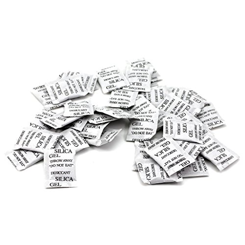 HuaYang 50 Packs Silica Gel Packets Absorbing Desiccant Sach