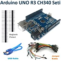 Arduino UNO R3 SMD (Klon - CH340 Chip - USB Kablo Hediye)