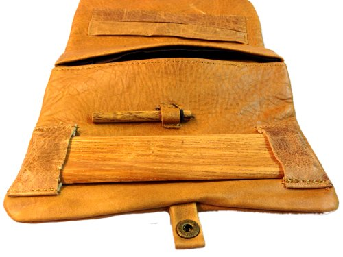 Kavatza girevole tasche–tabacco tasche–Astuccio per tabacco–Vera Pelle Con drehhilfe e lungo scomparto