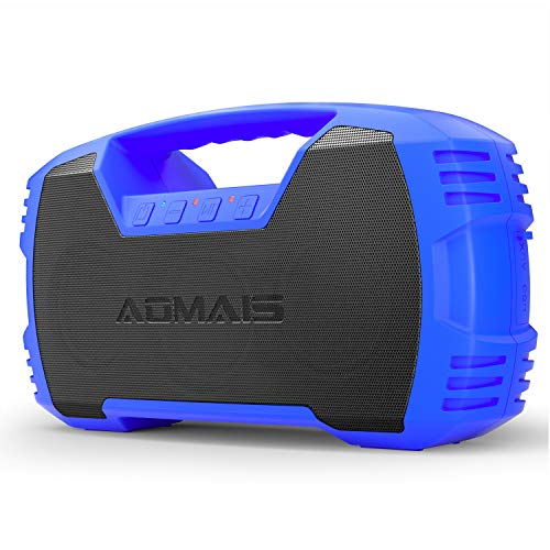- AOMAIS GO Bluetooth Speakers,Waterproof Portable Indoor/Outdoor 30W Wireless Stereo Pairing Booming Bass Speaker,30-Hour Playtime with 8800mAh Power Bank,Durable for Home Party,Camping(Blue)