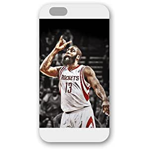 Onelee(TM) - Customized White Frosted iPhone 6 Plus 5.5 Case, NBA Superstar Houston Rockets James Harden iPhone 6 Plus 5.5 Case, Only Fit iPhone 6 Plus 5.5 Case