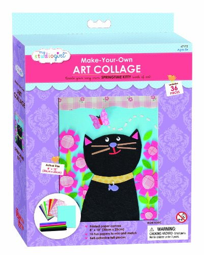 My Studio Girl Paint and Create Felt Collage Kit, Cat