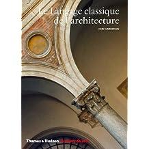 Langage classique de l'architecture