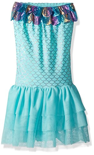 (Mud Pie Baby Girls Spandex Blue Mermaid Tail, 5T and Up)