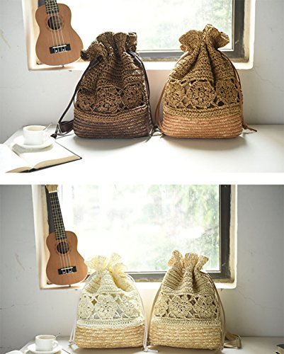 Sac Mackur Vintage Tissage de Cordon Serrage Paille Crochet 04wq0Bxf