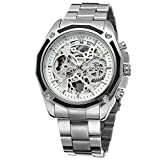 FORSINING Men's Branded Automatic Chinese Movt Stainless Steel Bracelet Unique Watch Clock FSG8130M4S1