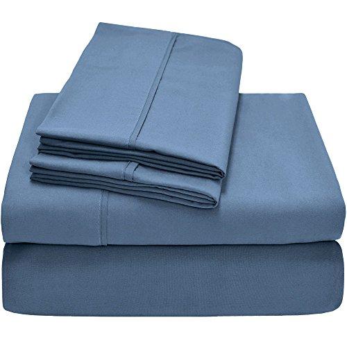 Twin XL Sheet Set, Twin Extra Long, 3-Piece Ultra-Soft Premium Bed Sheets/Coronet Blue