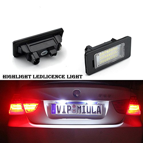 (Lightdu License Plate Lights 12V LED White Lamps for BMW 1 3 5 Series X1 X3 X5 X6 M3 (2Pcs))
