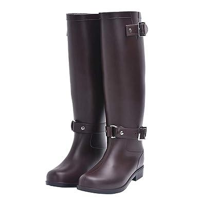 8319aabc975 Women s Wide Calf Rain Boot Original Tall Rain Boot(Black Lable 36 5.5 B