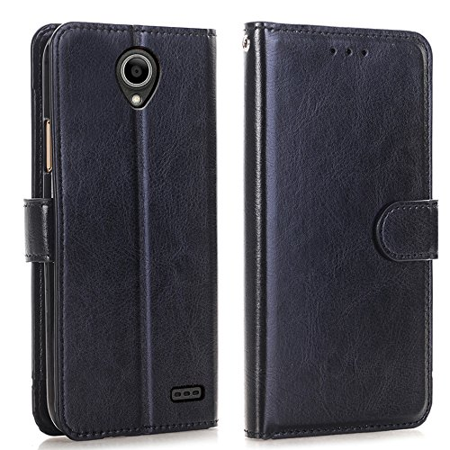 Maven 3 Z835 Prelude Plus Case, Prestige 2 N9136 Case, Overture 3 Case, Zeking Premium PU Leather Flip Fold Wallet Case [Kickstand Feature] with [ID&Credit Card Slot](Black)