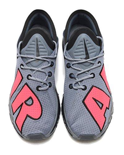 Nike Mens Air Max Stil Löparskor Kyla Grå / Sol Röd-svart